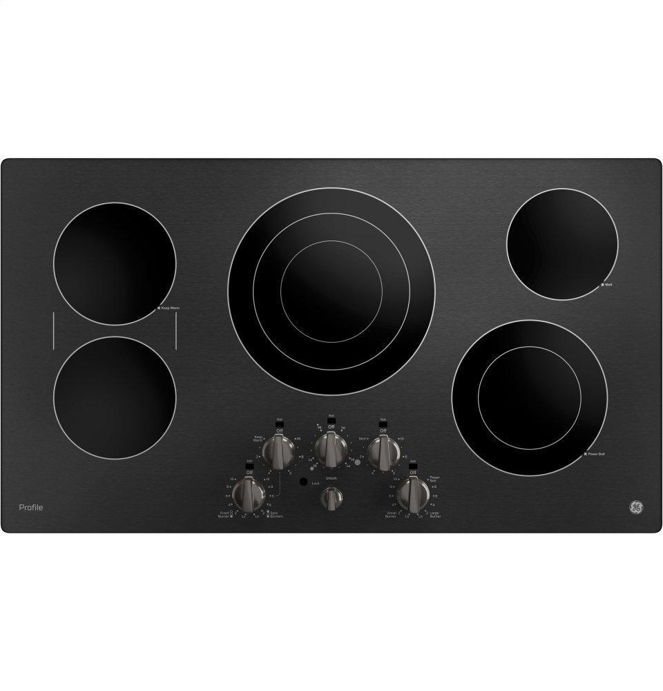 "GE Profile36"" Built-In Knob Control Cooktop"