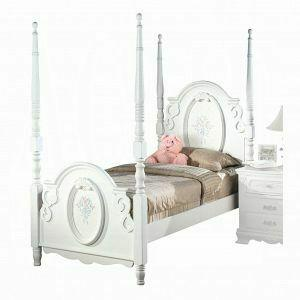ACME Flora Twin Bed (Poster) - 01660T - White
