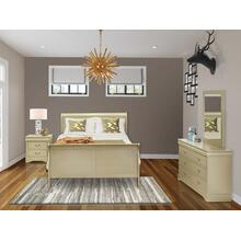 West Furniture Louis Philippe 4 Piece Queen Size Bedroom Set in Metallic Gold Finish with Queen Bed,Nightstand ,Dresser, Mirror,