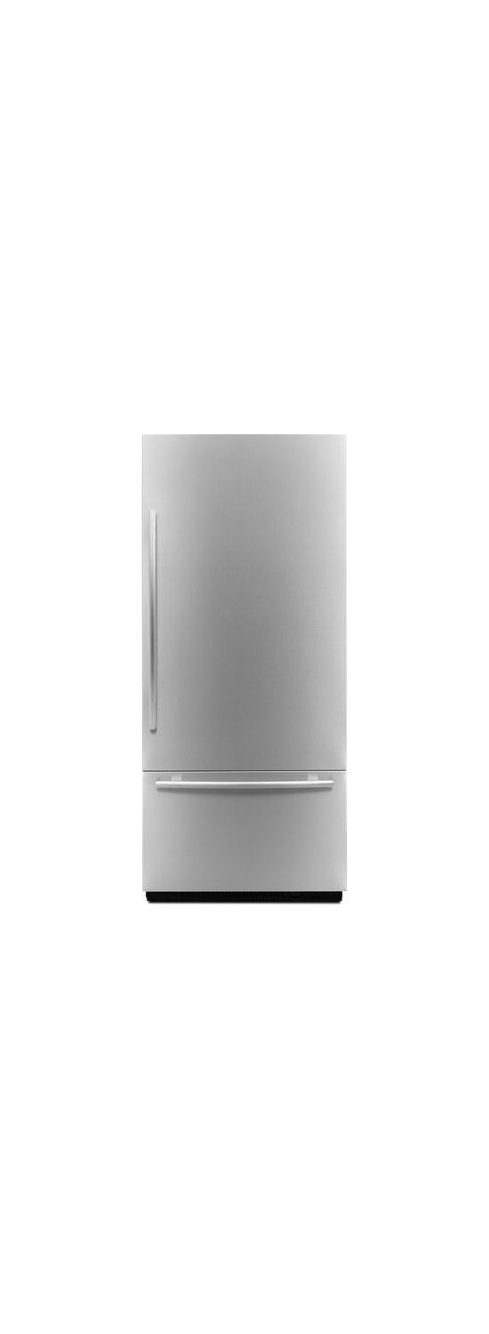"Euro-Style 36"" Fully Integrated Built-In Bottom-Freezer Right-Hand Door Swing Panel-Kit Stainless Steel"