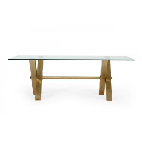 VIG Furniture - Modrest Dandy - Modern Golden & Glass Dining Table