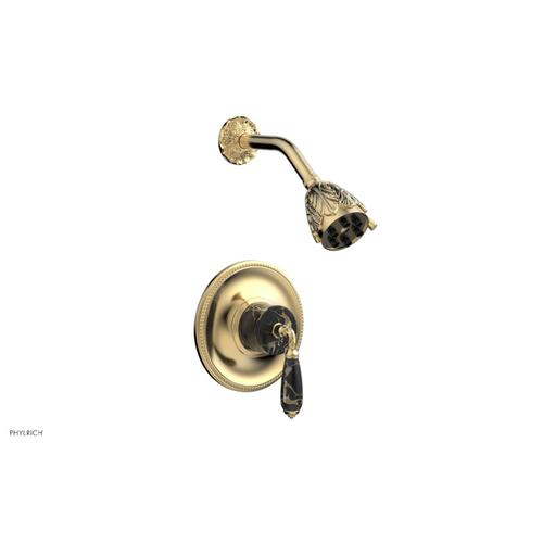 VALENCIA Pressure Balance Shower Set PB3338C - Satin Brass