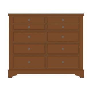 Villa Media Dresser - 8 Drawers