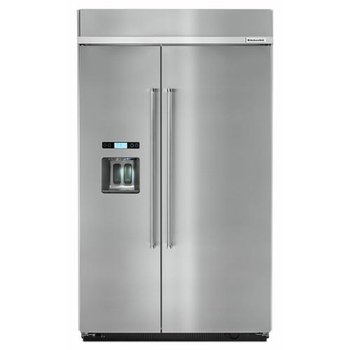 KitchenAid Canada - 29.5 cu. ft 48-Inch Width Built-In Side by Side Refrigerator - Stainless Steel