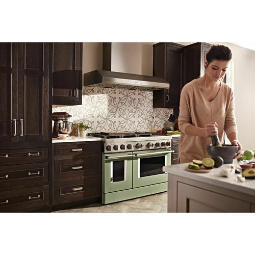 KitchenAid Canada - KitchenAid® 48'' Smart Commercial-Style Dual Fuel Range with Griddle - Matte Avocado Cream