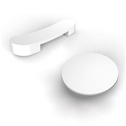 """Lulu 71"""" Acrylic Slipper Tub with Integral Drain and Overflow - White Powder Coat Drain and Overflow"""