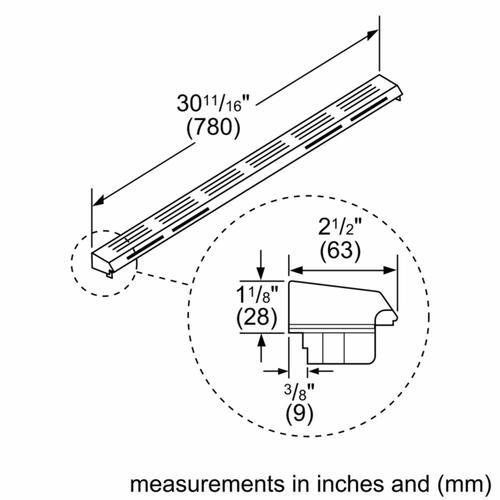 Bosch - Island Trim Accessory for Gas Slide-in Ranges