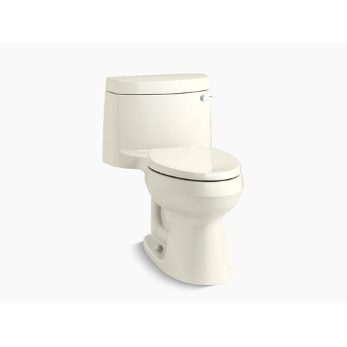 Kohler - Biscuit One-piece Elongated 1.28 Gpf Chair Height Toilet With Right-hand Trip Lever, and Quiet-close(tm) Seat
