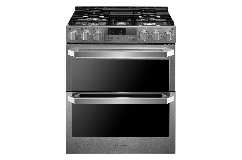 LG Signature7.3 Cu.Ft. Smart Wi-Fi Enabled Dual Fuel Double Oven Range With Probake Convection®