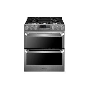 LgLG SIGNATURE 7.3 cu.ft. Smart wi-fi Enabled Dual Fuel Double Oven Range with ProBake Convection®