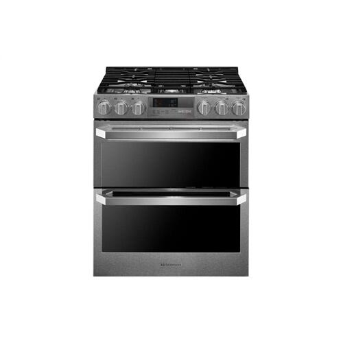 LG - LG SIGNATURE 7.3 cu.ft. Smart wi-fi Enabled Dual Fuel Double Oven Range with ProBake Convection®