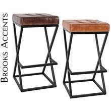 Brooks Leather Stool (1/ctn)