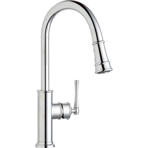 Elkay - Elkay Explore Single Hole Kitchen Faucet with Pull-down Spray and Forward Only Lever Handle Chrome