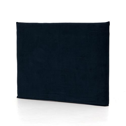 Queen Size Plush Navy Cover Junia Headboard
