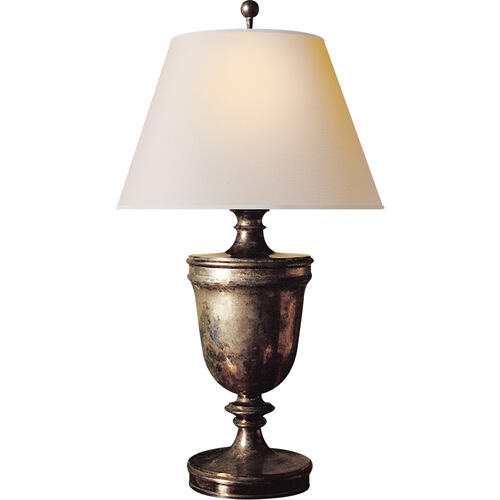 Visual Comfort - E. F. Chapman Classical 35 inch 100.00 watt Sheffield Nickel Decorative Table Lamp Portable Light in Natural Paper