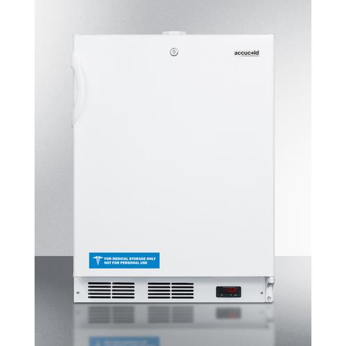 View Product - Built-in ADA Compliant Undercounter Frost-free All-freezer for General Purpose Use, With White Exterior, Digital Thermostat, and Lock