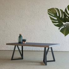View Product - Modrest Richmond Modern Concrete & Black Metal Coffee Table