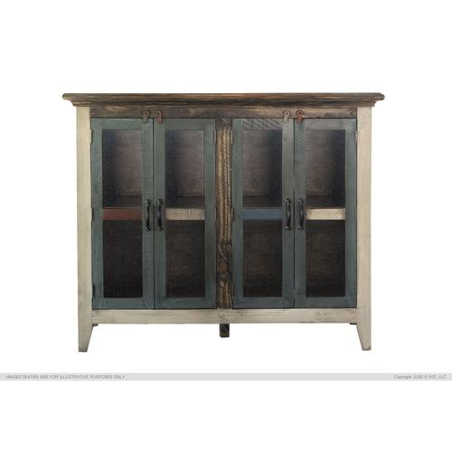 "50"" Console w/4 Glass Doors, Multi-Colors Finish"