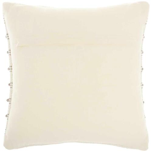 "Life Styles Gc384 Light Grey 18"" X 18"" Throw Pillow"
