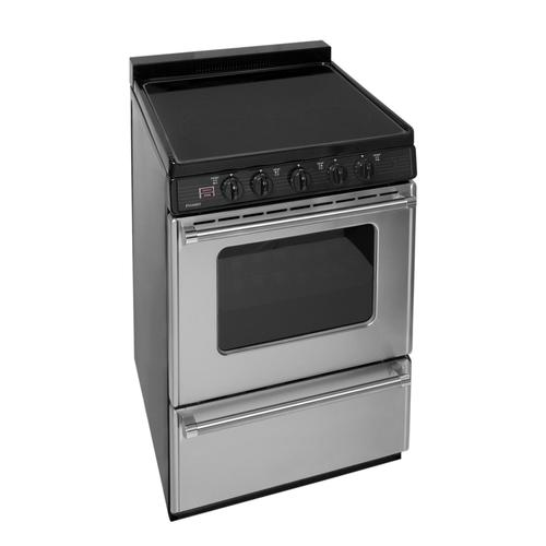 Premier - 24 in. Freestanding Smooth Top Electric Range in Stainless Steel