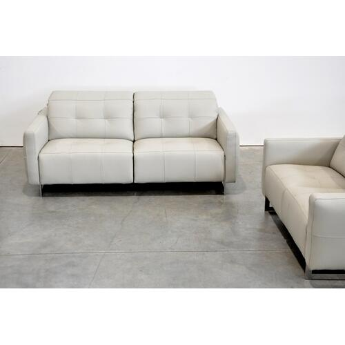 Gallery - Estro Salotti Duca Modern Grey Leather Sofa Set w/ Recliners