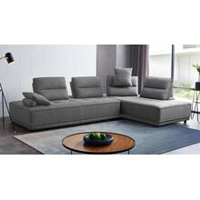 View Product - Divani Casa Glendale - Modern Grey Fabric Modular Sectional Sofa
