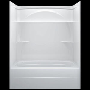"High Gloss White 60"" x 32"" One Piece Tub Shower-Left Drain Product Image"
