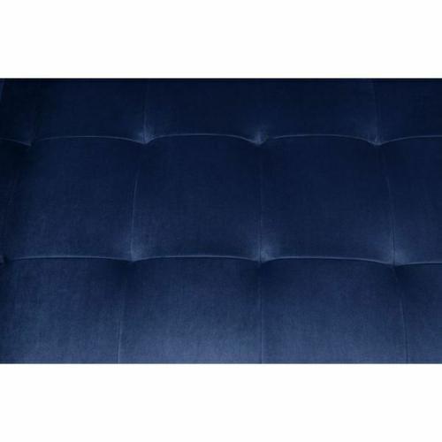 ACME Heather Loveseat w/2 Pillows - 51076 - Navy Velvet