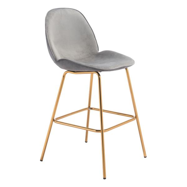 See Details - Siena Bar Chair Gray & Gold