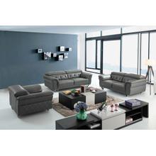 Product Image - Divani Casa Perry Modern Grey Leather Sofa Set