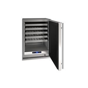 "U-Line24"" Wine Refrigerator With Stainless Solid Finish (115 V/60 Hz Volts /60 Hz Hz)"