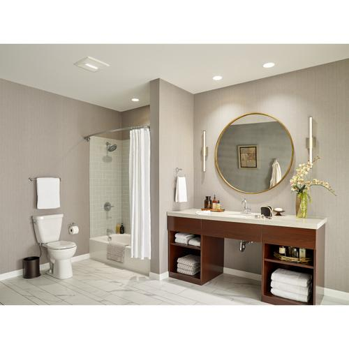 Broan Flex Series 80 CFM Bathroom Exhaust Fan Light Finish Pack Energy Star®
