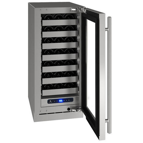 "15"" Wine Refrigerator With Stainless Frame Finish and Left-hand Hinge Door Swing (115 V/60 Hz Volts /60 Hz Hz)"