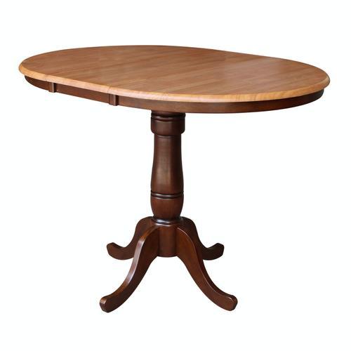 Round Extension Table in Cinnamon/Espresso