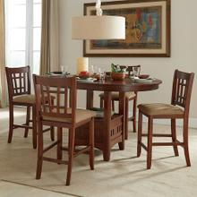 "5 PIECE SET (PUB TABLE AND (4) 24"" BARSTOOLS)"