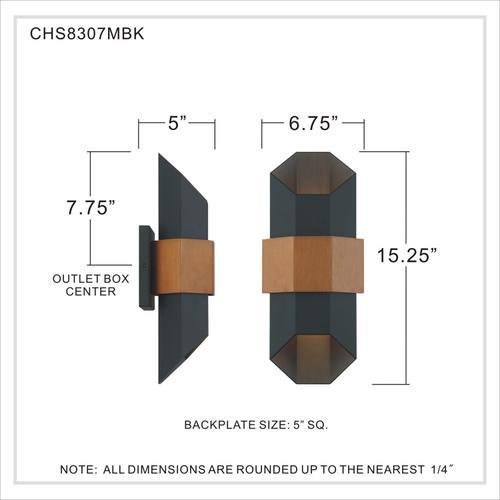 Quoizel - Chasm Outdoor Lantern in Matte Black
