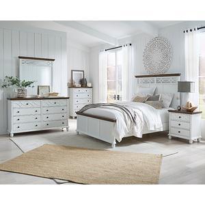 Gallery - Dresser \u0026 Mirror - Oak/Vanilla Finish