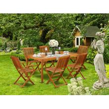 This 7 Pc Acacia Solid wood Outdoor-Furniture Sets provides you one Outdoor-Furniture table and Six patio dining chairs