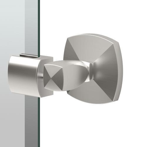 Jewel Rectangle Mirror in Satin Nickel