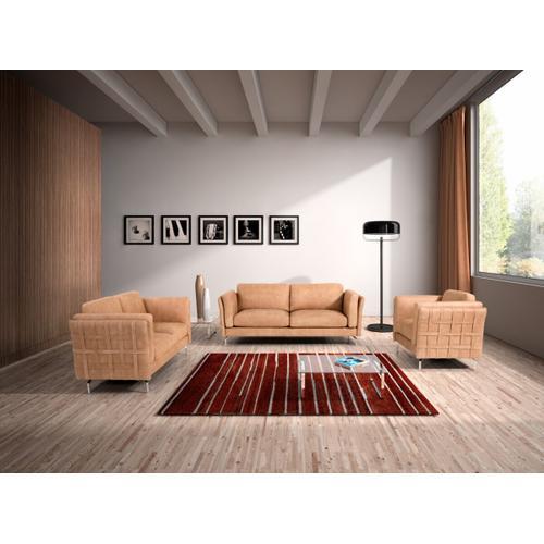 Gallery - Estro Salotti Jenny Modern Terra Italian Leather Sofa Set