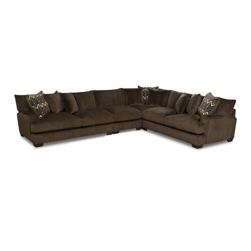 American Furniture Manufacturing - 1600 - Ultimate Chocolate Sectional