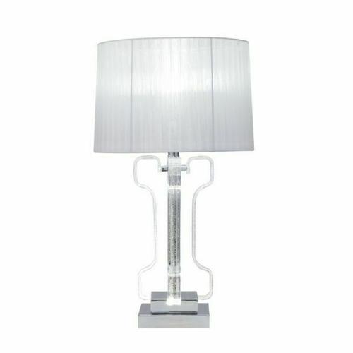 ACME Melinda Table Lamp - 40344 - Glam - LED Light, Clear Acrylic, Metal, Shade - Clear Acrylic and Chrome