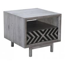 Raven End Table Gray