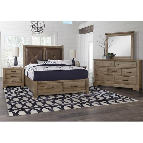 Artisan & Post Solid Wood - Queen Leather Bed with Footboard Storage