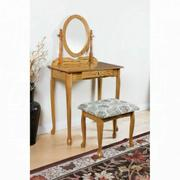 ACME Queen Anne Vanity Set - 02337OAK - Oak Product Image