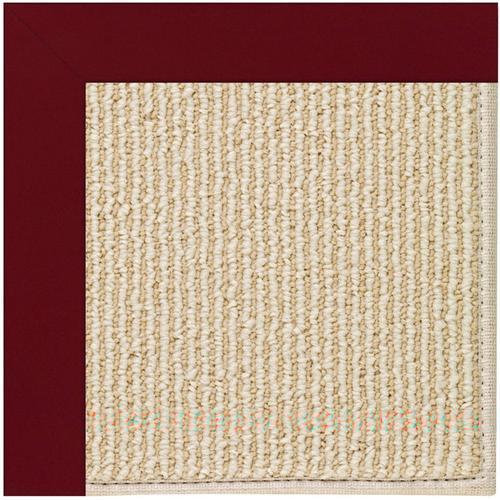 Creative Concepts-Beach Sisal Canvas Burgundy Machine Tufted Rugs