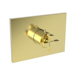 """Forever Brass - PVD 3/4"""" Square Thermostatic Trim Plate with Handle Product Image"""