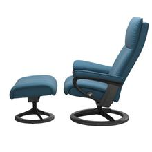 View Product - Stressless® Aura (M) Signature chair with footstool