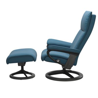 See Details - Stressless® Aura (M) Signature chair with footstool