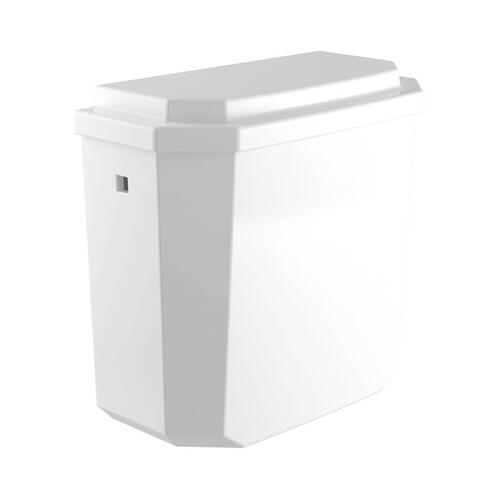 PERRIN & ROWE DECO CLOSE COUPLED WATER CLOSET TANK CISTERN ONLY WITH 1.28 GPF FLUSH MECHANISM